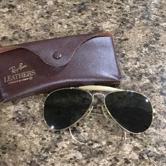 569767e5f41d Ray Ban Vintage Rare Gold Aviator Sunglasses. M_5b96e9c3df03071034c4e85d